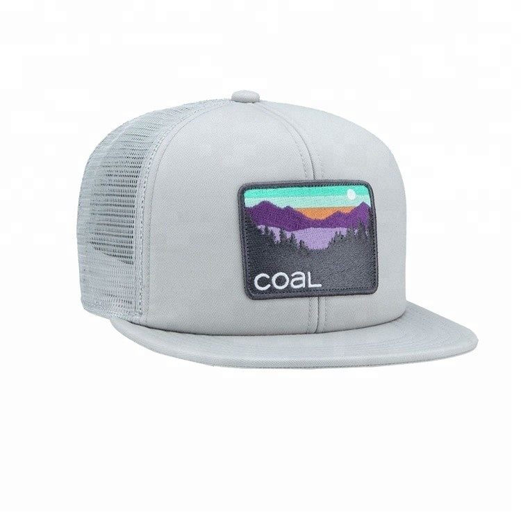 Custom Embroidered Flat Bill Snapback Hats , Nylon Mesh  Snapback Hats